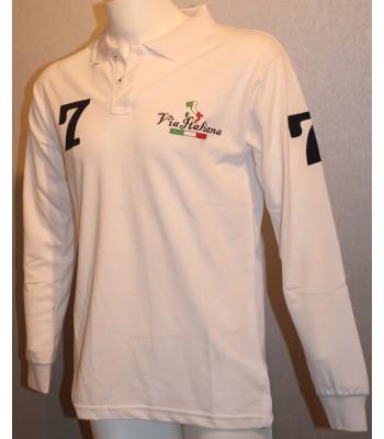 Piké tröja Via Italiana (standard) långärmad