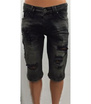 Capribyxor herr jeans svart