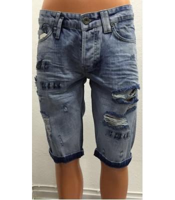 Capribyxor herr jeans blå
